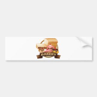 Bakery label bumper sticker