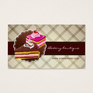 Bakery or cake boutique business card
