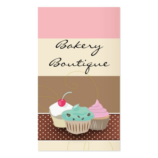 Bakery or cake boutique business card templates