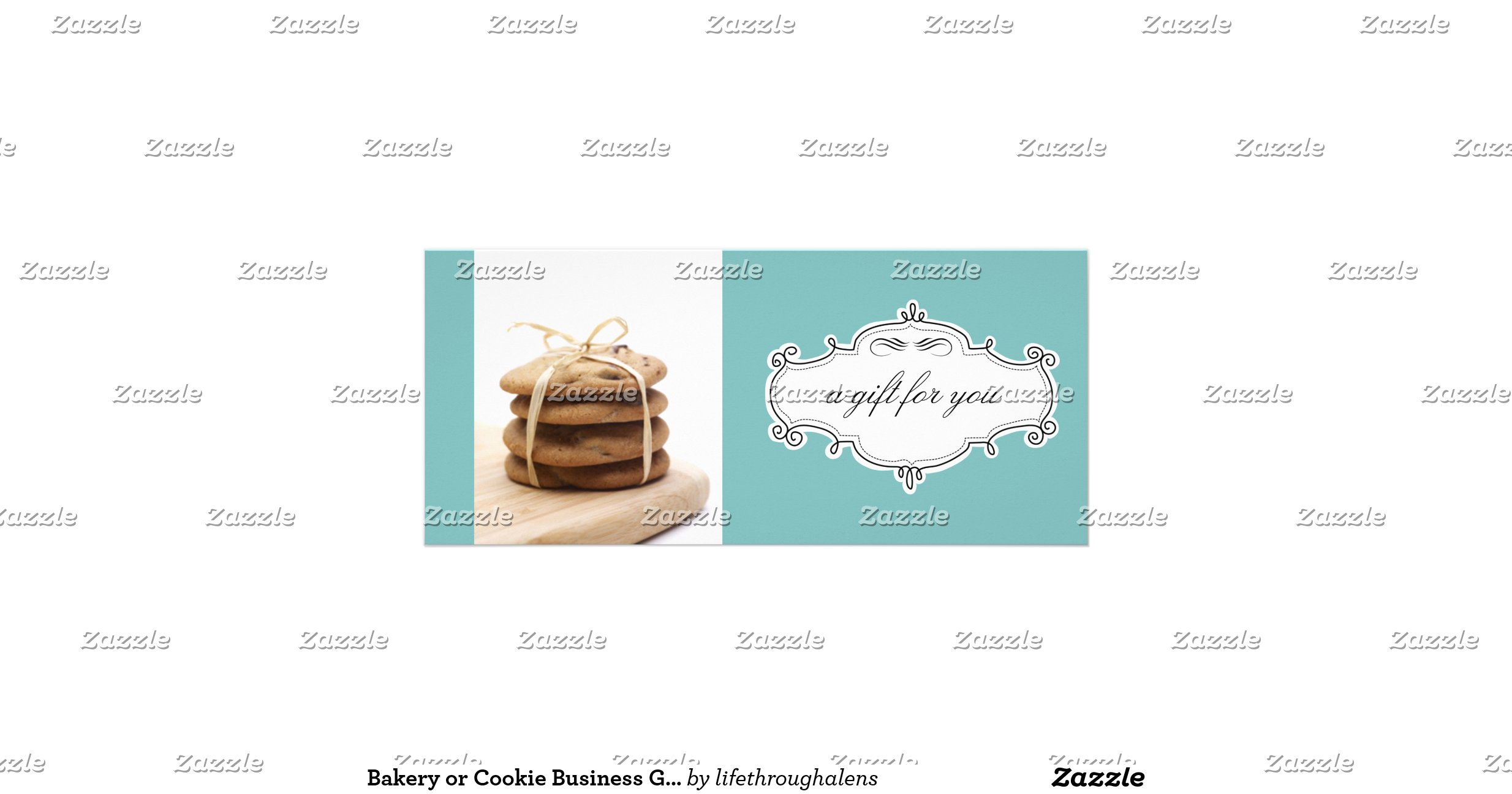 Bakery or Cookie Business Gift Certificates Custom Rack