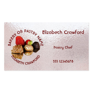 Bakery Or Pastry Sweets Cake Shop With Your Name Pack Of Standard Business Cards