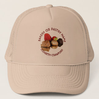Bakery Or Pastry Sweets Cake Shop With Your Name Trucker Hat