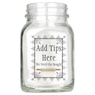 Bakery or Restaurant Logo Jar for TIps