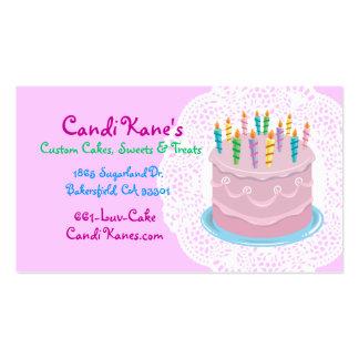 Bakery owner cake-maker sweet shop dessert lovers business card