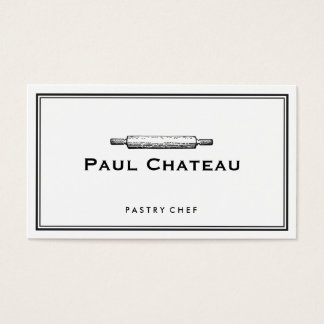 Bakery Pastry Chef Rolling Pin Baker Logo White