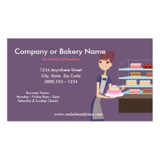 Bakery Pastry Shop 4 Business Card