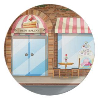 Bakery shop plate