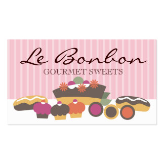 Bakery sweets cake cupcakes eclairs cookies bus... pack of standard business cards