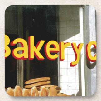 Bakery Window Beverage Coasters