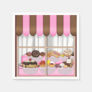 Bakery Window sweet treats paper napkins