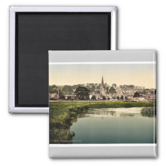 Bakewell, from river, Derbyshire, England rare Pho Square Magnet