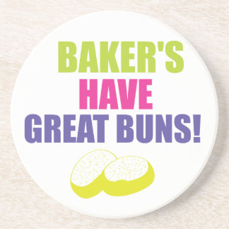 Baking - Bakers Have Good Buns Drink Coaster