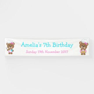 Baking Bear Birthday Party Banner