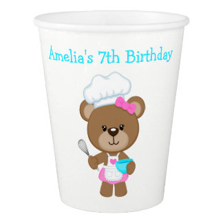 Baking Bear Birthday Party Paper Cup