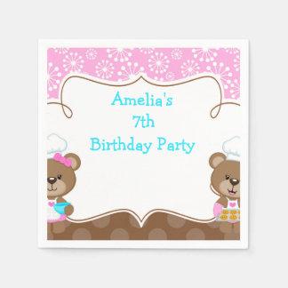Baking Bear Birthday Party Paper Serviettes