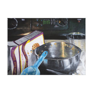 Baking Cookies in the Kitchen Acrylic Painting Canvas Print