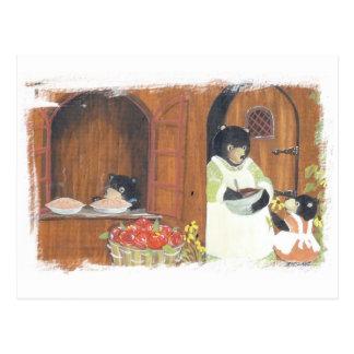 Baking Day Bears Postcard