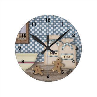 Baking Gingerbread Wall Clock