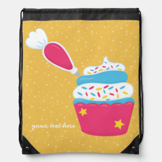 Baking is fun * choose your background color drawstring bag