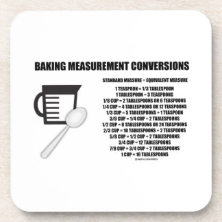Baking Measurement Conversions Measure Coasters