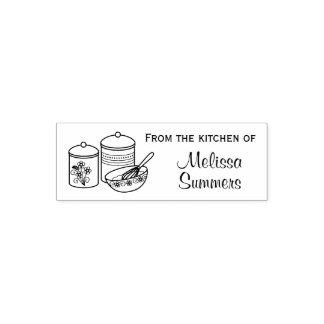 Baking - Mixing Bowl, Whisker, Canisters Kitchen Self-inking Stamp