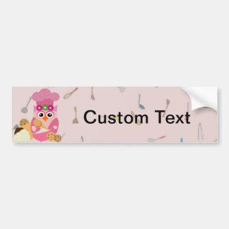 Baking Owl Bumper Sticker
