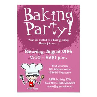 Baking party invitations | Custom invites