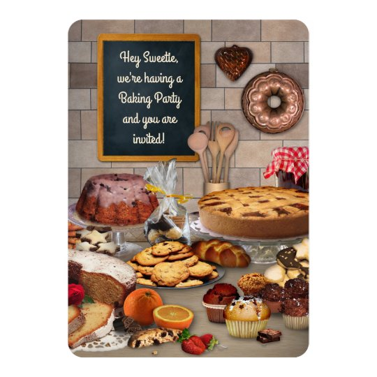 Baking Party Invitiation Card