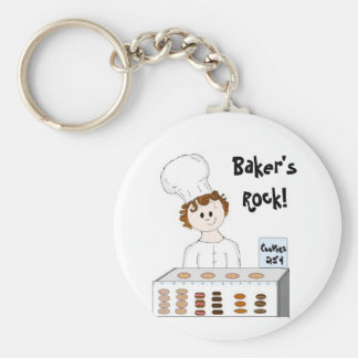 Baking Sale Basic Round Button Key Ring
