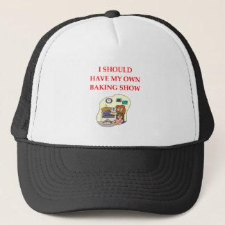 baking trucker hat