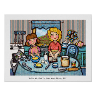Baking With Mom Print