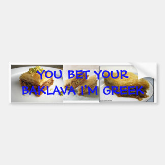Baklava Bumper sticker