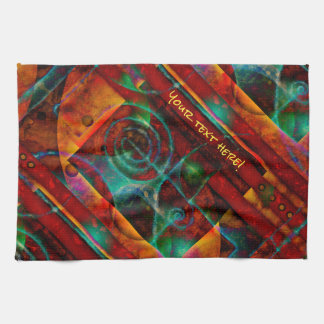 Baktun Mystical Spiral Abstract Tea Towel