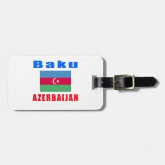 Baku Azerbaijan capital designs Luggage Tag