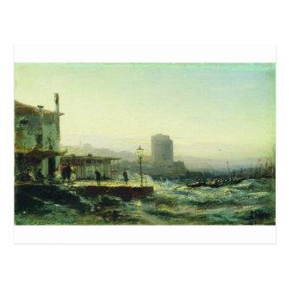 Baku. Embankment by Alexey Bogolyubov Postcard