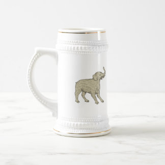 Baku Side Drawing Beer Stein