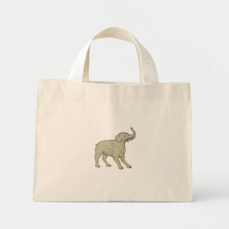Baku Side Drawing Mini Tote Bag