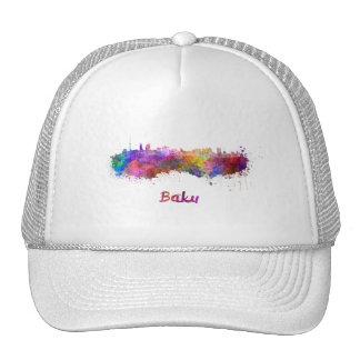 Baku skyline in watercolor cap