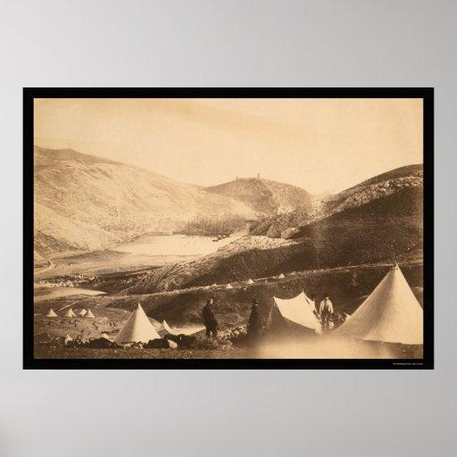 Balaclava Harbor from Guards Hill 1855 Print