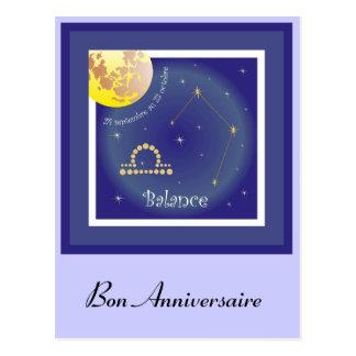 Balance 24 septembre outer 23 octobre postcard
