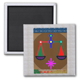 BALANCE Ancient Vintage Justice Equility SPIRITUAL Square Magnet