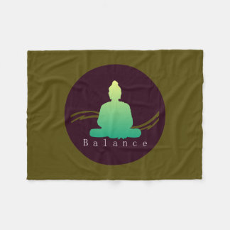 """Balance"" Beautiful Buddha. Fleece Blanket"