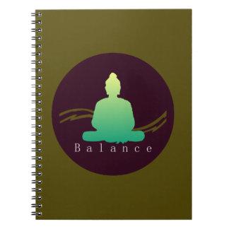 """""""Balance"""" Beautiful Buddha. Notebook"""