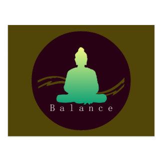 """""""Balance"""" Beautiful Buddha postcard"""