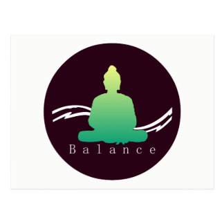 """Balance"" Beautiful Buddha postcard"