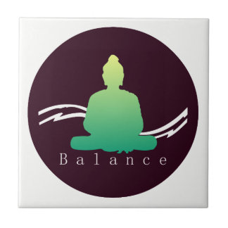 """Balance"" Beautiful Buddha. Tile"