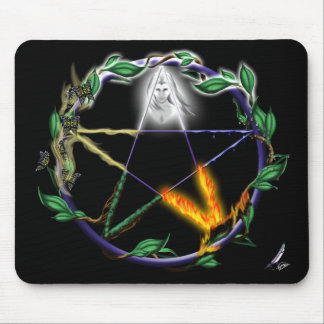 """Balance"" - Elemental Pentacle Mouse Pad"