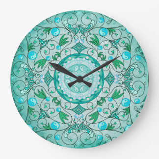 Balance of Nature Healing Mandala Wall Clock