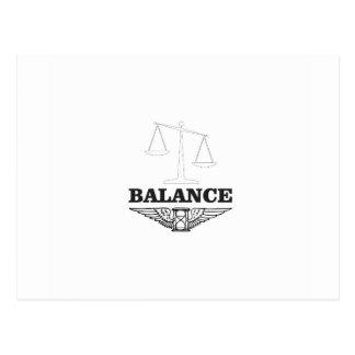 balance scales hard postcard