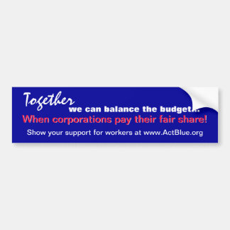 Balance the budget (corporations) sticker